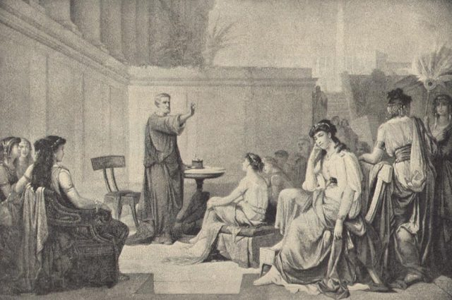 Pythagoras-teaching-women